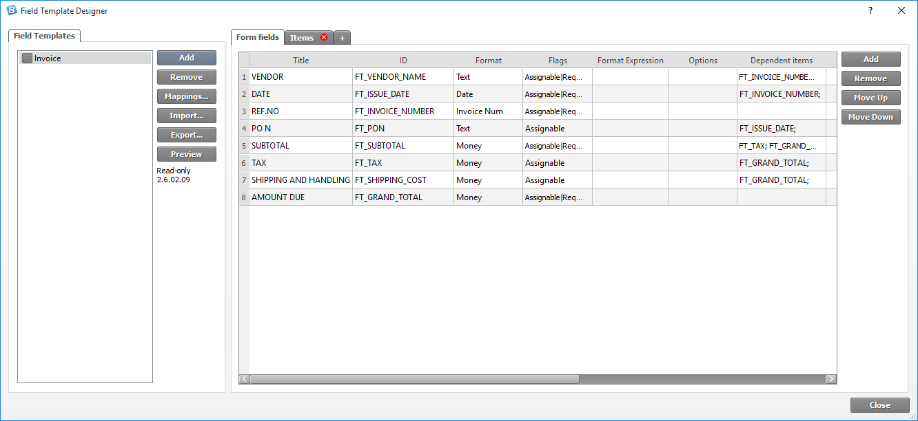 Smartsoft invoices help on the left side of the field designer there is a list of all field forms that the user currently has on the right side there is a blueprint of the malvernweather Gallery